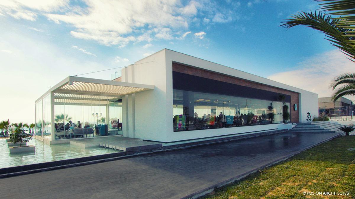 Cafe Resto The Big Dip Lac 2 Tunis Fusion Architectes