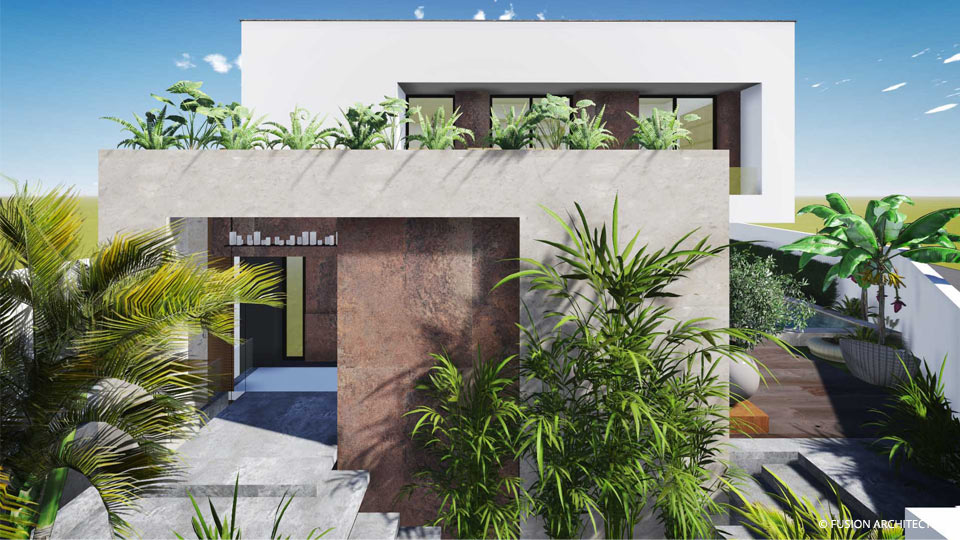Fusion architectes for Plan architecture villa tunisie