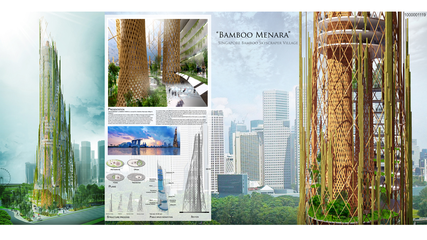 CONCOURS INTERNATIONAL BAMBOO TOWER . SINGAPORE