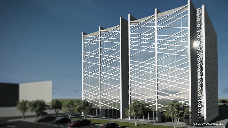 Immeuble de bureaux klim . tunis fusion architectes